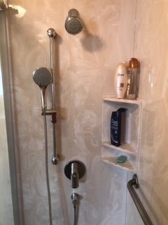 wall mounted hand-held shower