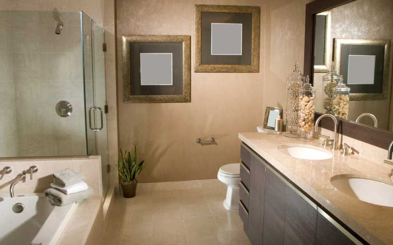view of a bathroom with shower enclosure